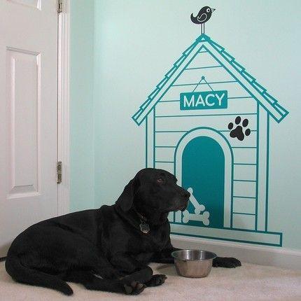 Dog House Wall Art Decal Dog Ideas Pinterest Wall Art Decal - Custom vinyl wall decals dogs