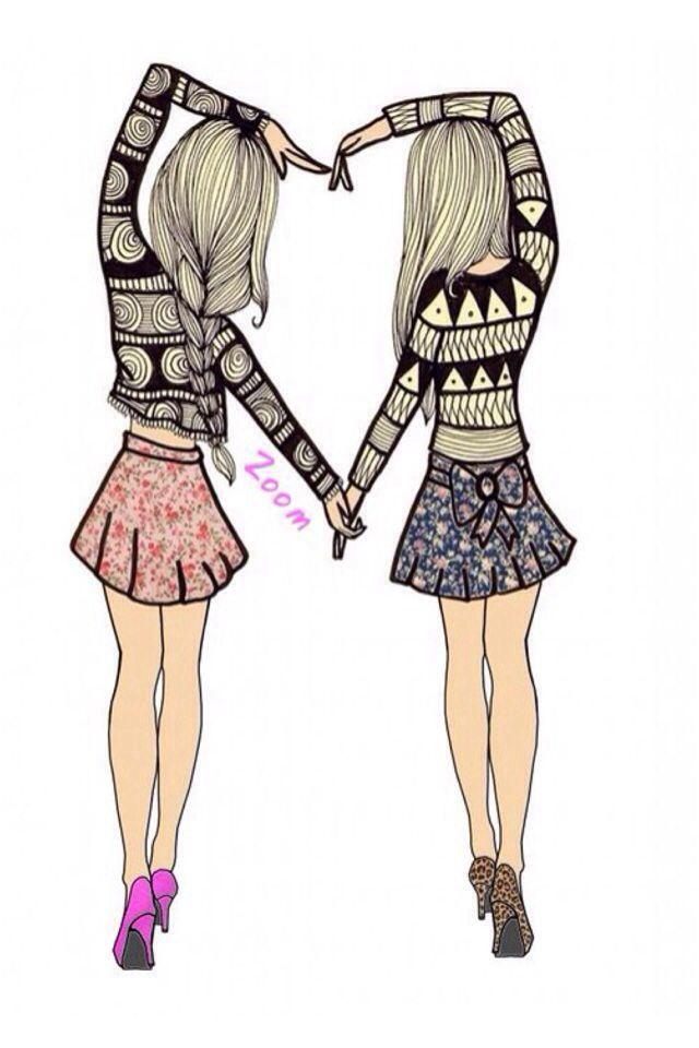 Cute Friend Drawings : friend, drawings, Friend, Drawings, Friends,, Drawings,