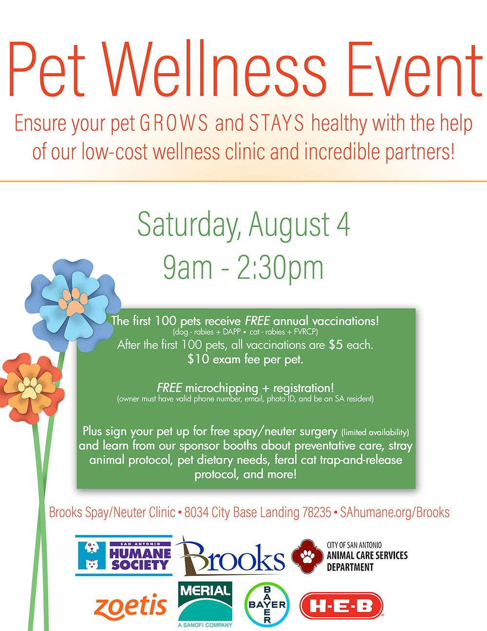 Come visit us at our Brooks Spay/Neuter Clinic this