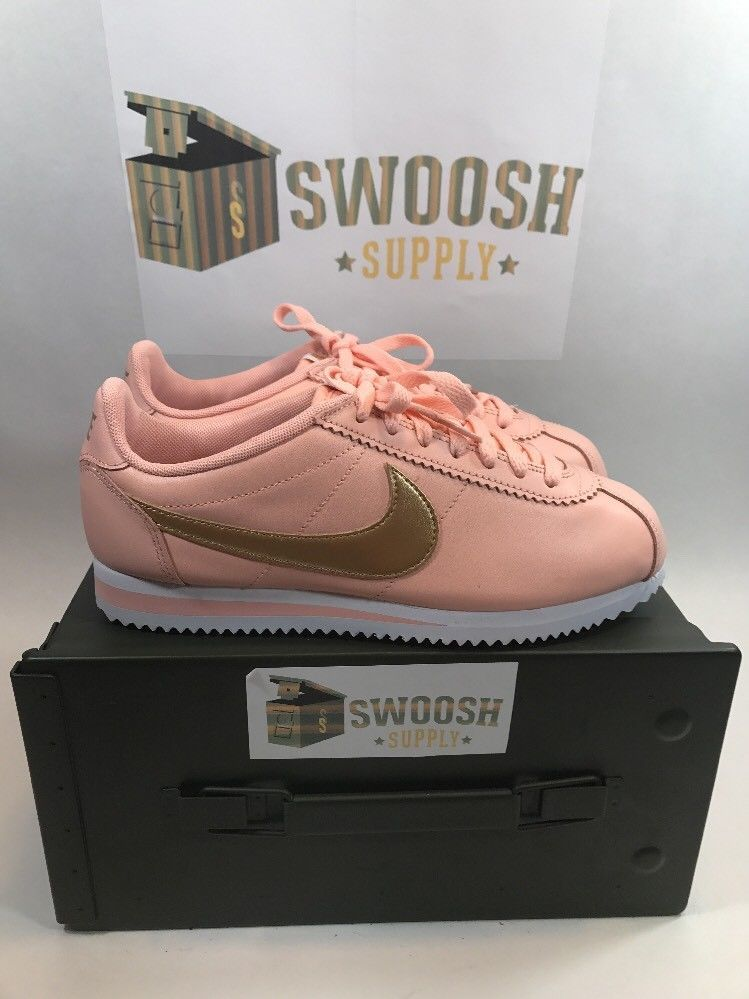 best loved ed452 8e79e WOMEN S NIKE CLASSIC CORTEZ LEATHER SHOES ARCTIC ORANGE GOLD 807471-800  SIZE 10  NIKE  AthleticSneakers