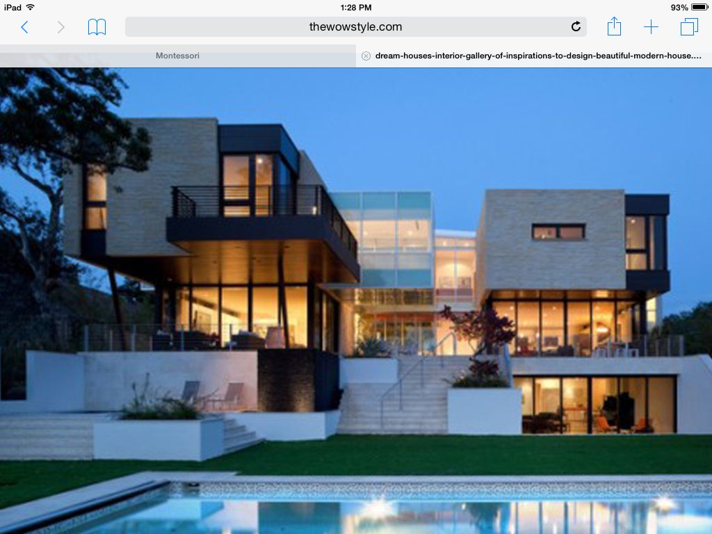 I am really in to big houses and modern looking houses so ...