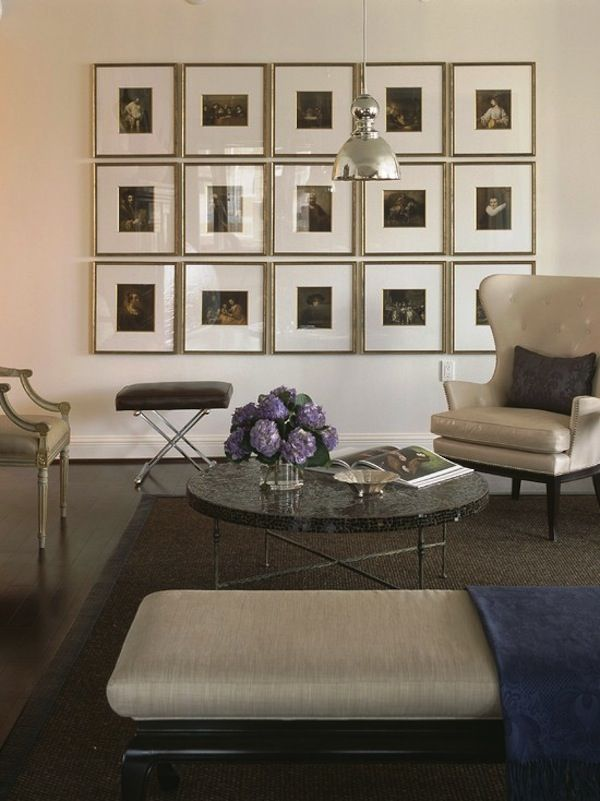 Transitional Living Room Design With Beautifully Framed Art Gallery Wall I M Impressed