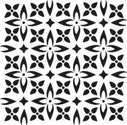 12x12 Crafters Workshop Stencil Template Flower Piecing