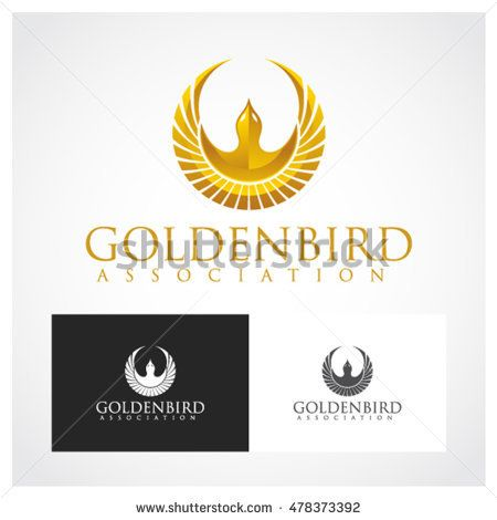 Golden Bird Symbol Suitable For Professional Design Use Graphic