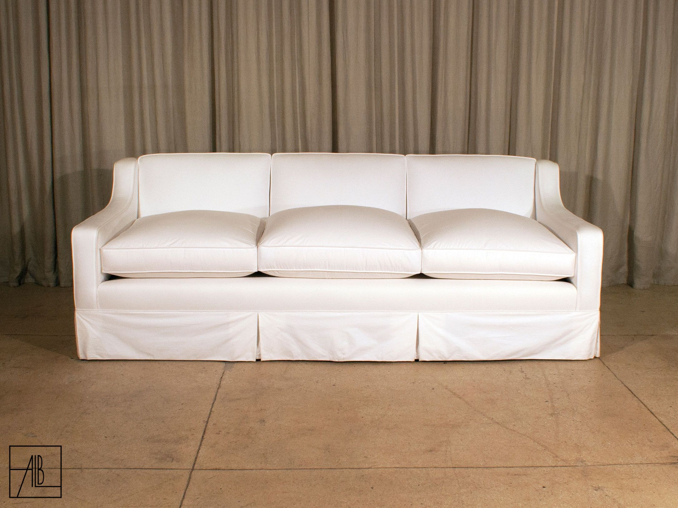 Modern Slope Arm Sofa Anthony Lawrence Sofas