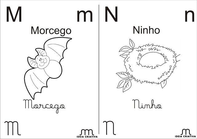 Alfabeto Para Colorir 4 Tipos De Letra Meio Oficio Alfabeto Para