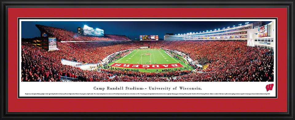 University of Wisconsin Camp Randall Framed Panoramic Stadium Print