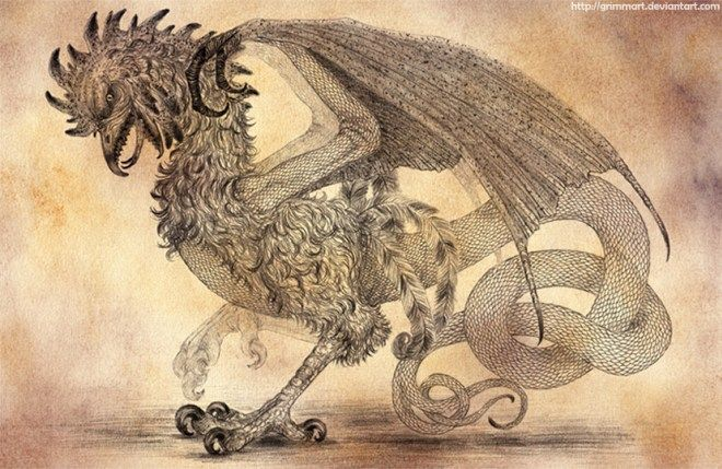 noir monstre coq