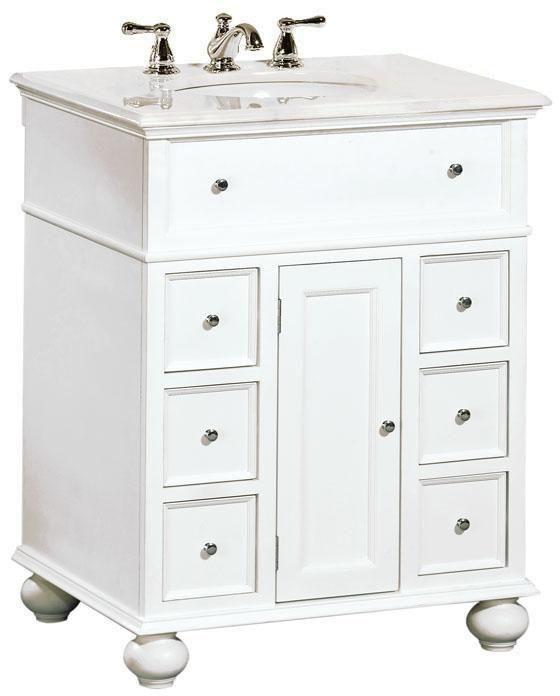 Bedroom 2 Bath Hampton Bay 28 W Single Vanity With White Marble Top 575