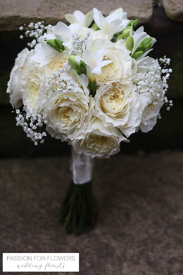 white david austin roses wedding flowers passion for flowers  ~ florals by www.passionforflowers.net