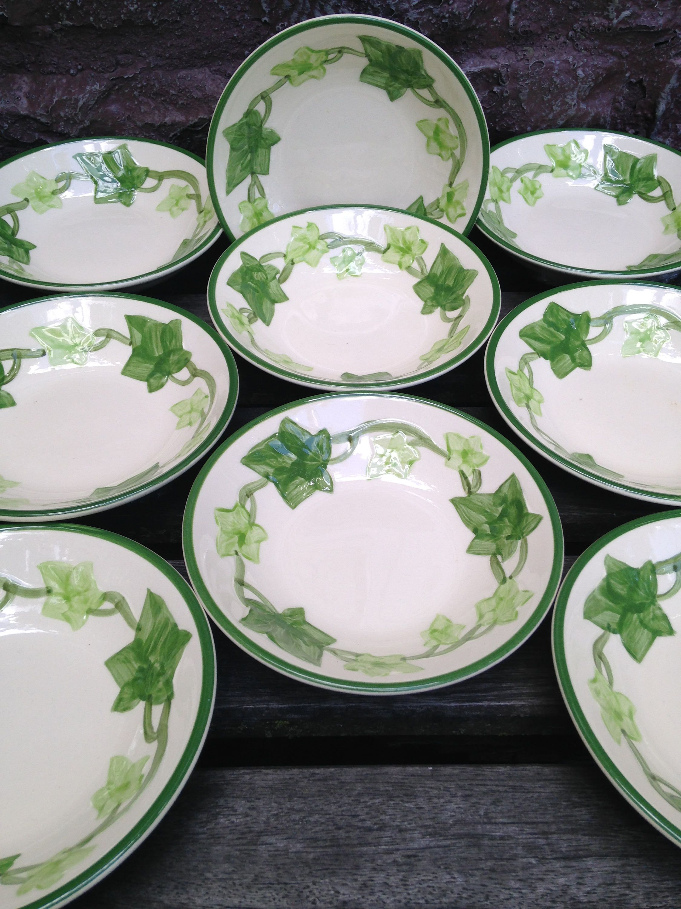 Franciscan Ivy Dessert Bowls USA - Nine Available - Featured on  I Love Lucy  - China Dinnerware Replacement by ThePinkVintageRose on Etsy & Franciscan Ivy Dessert Bowls USA - Nine Available - Featured on