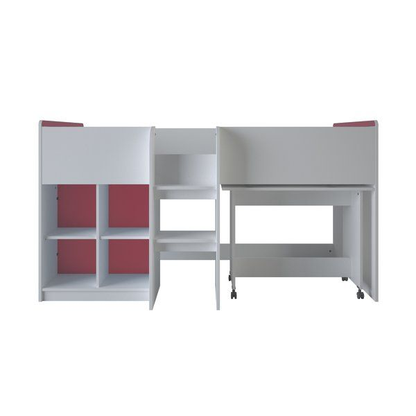76b74785ad3 You ll love the Reverso Single Mid Sleeper Bed with Shelves at Wayfair.co