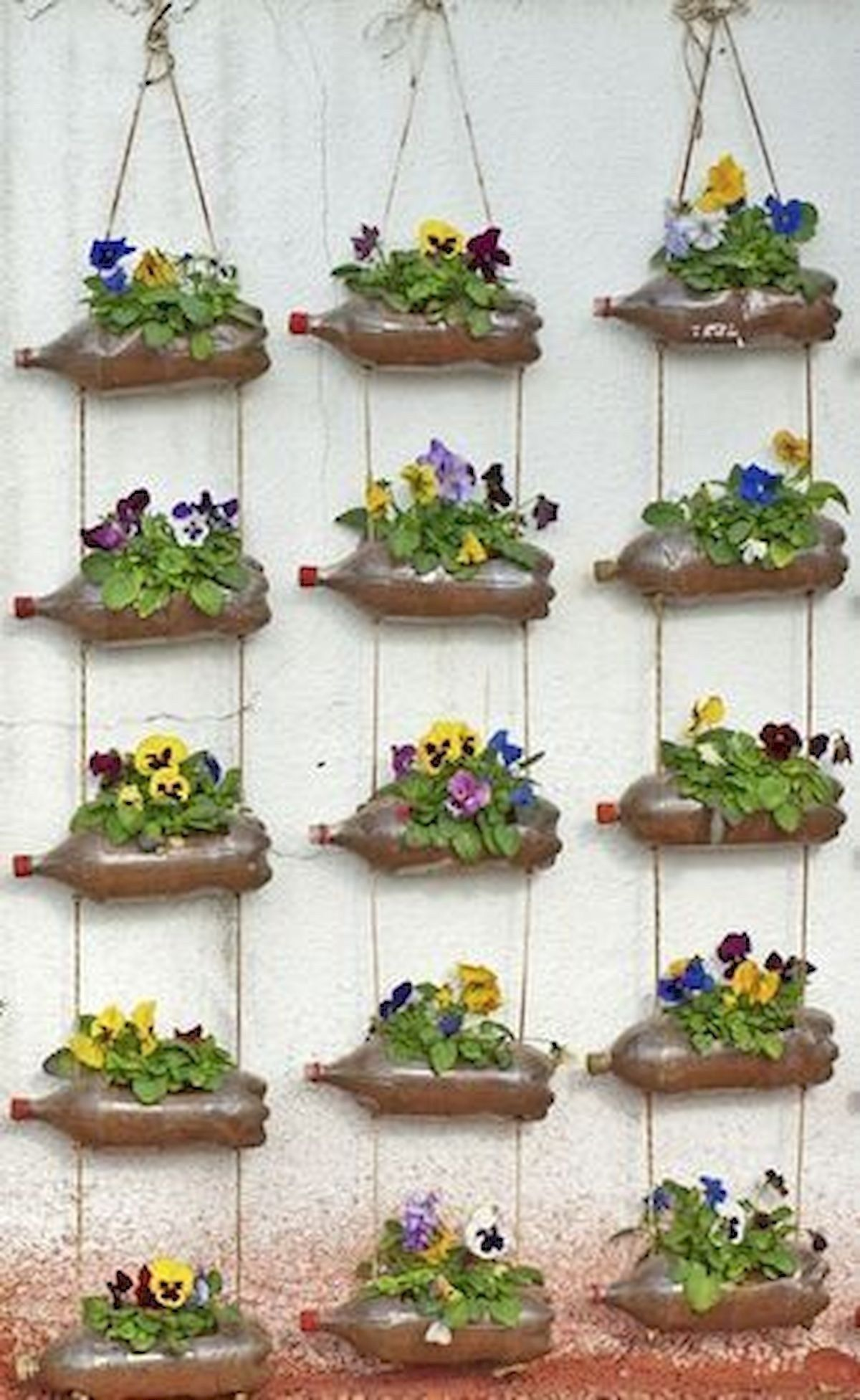 36 Handmade Recycled Bottle Ideas For Vertical Garden Vertical