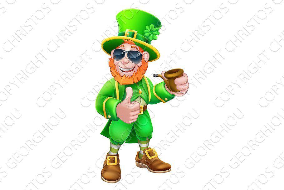 Leprechaun St Patricks Day Cartoon In 2020 Leprechaun St