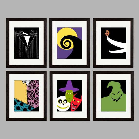 Christmas Tree Shop Manchester Connecticut: Nightmare Before Christmas. Set Of 6 Wall Art By