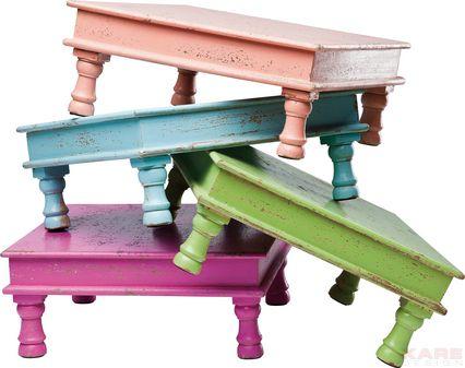 deco table caramella assorted 37x37cm by kare design kare karedesign sidetable pastel. Black Bedroom Furniture Sets. Home Design Ideas