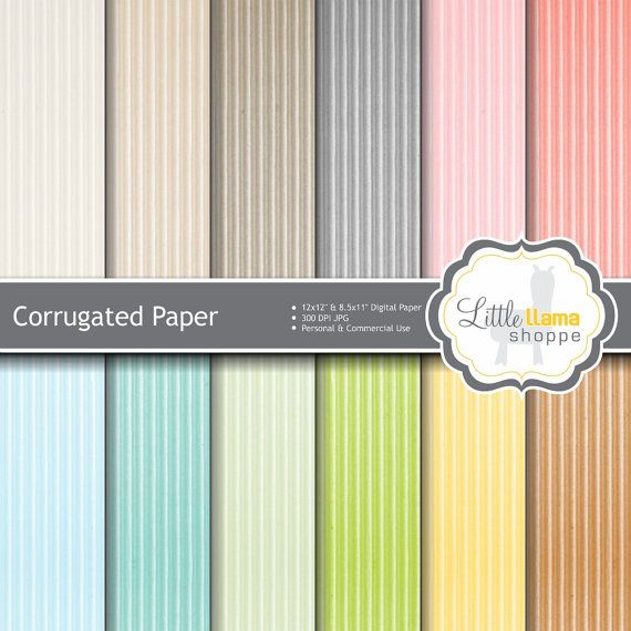 Sale Colored Cardboard Digital Paper Pack Corrugated Subtle Etsy Digital Paper Scrapbook Paper Digital Paper Pack