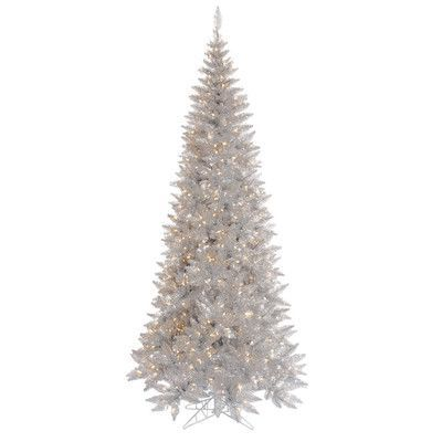 The Holiday Aisle 55\u0027 Silver Tinsel Fir Artificial Christmas Tree