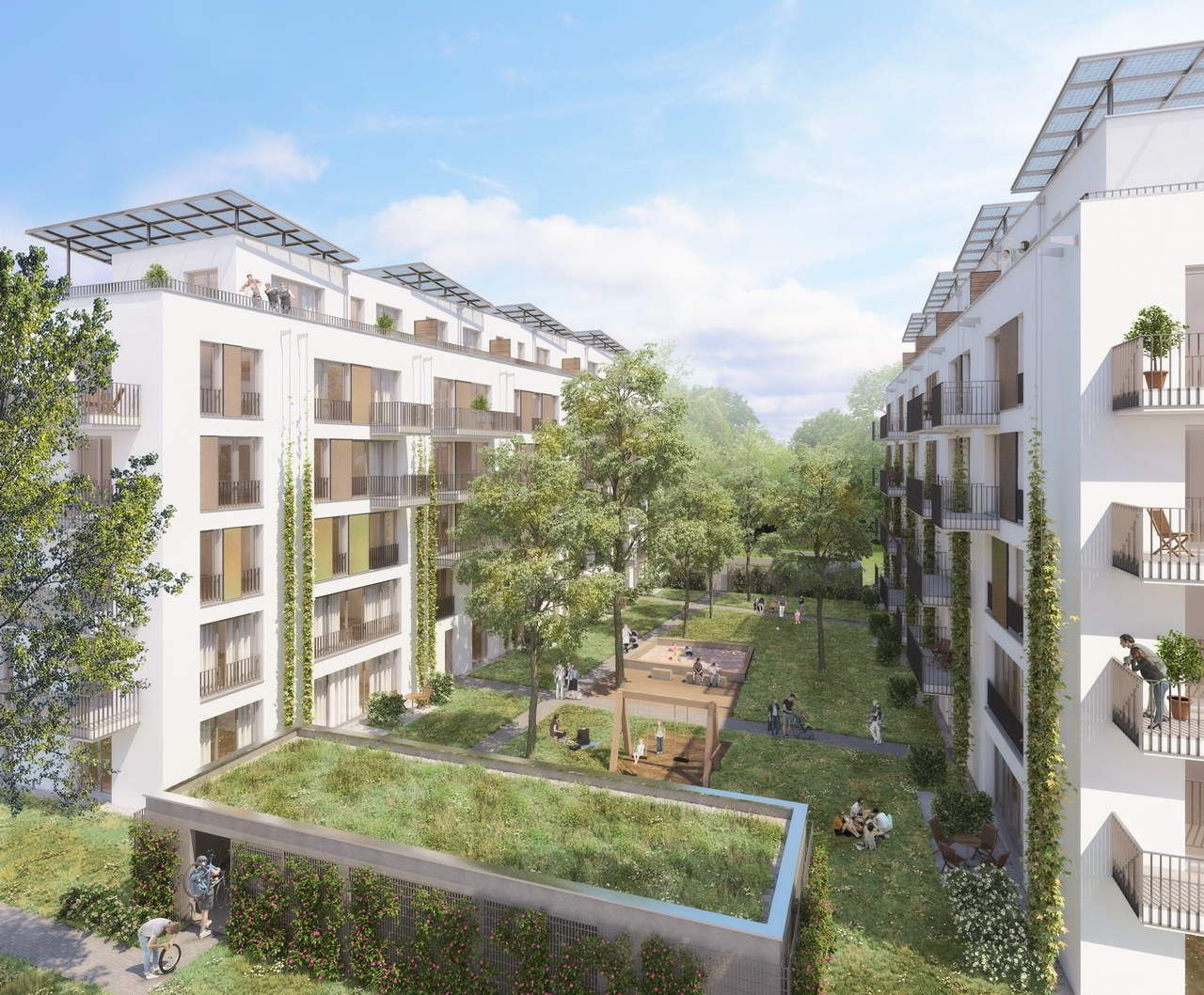 Architektur Freiburg architekturvisualisierung wohnungsbau berlin möckernkiez entwurf