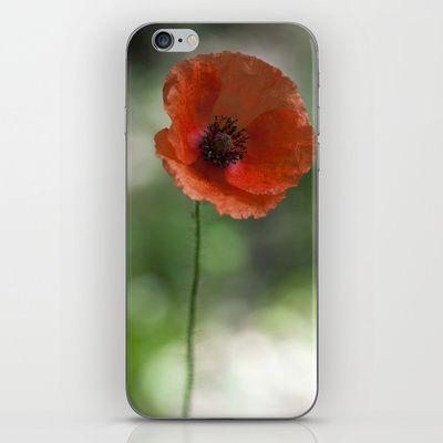 Phone Skins Originalaufnahme (originalaufnahme) Poppy at backlight by Originalaufnahme $15.00