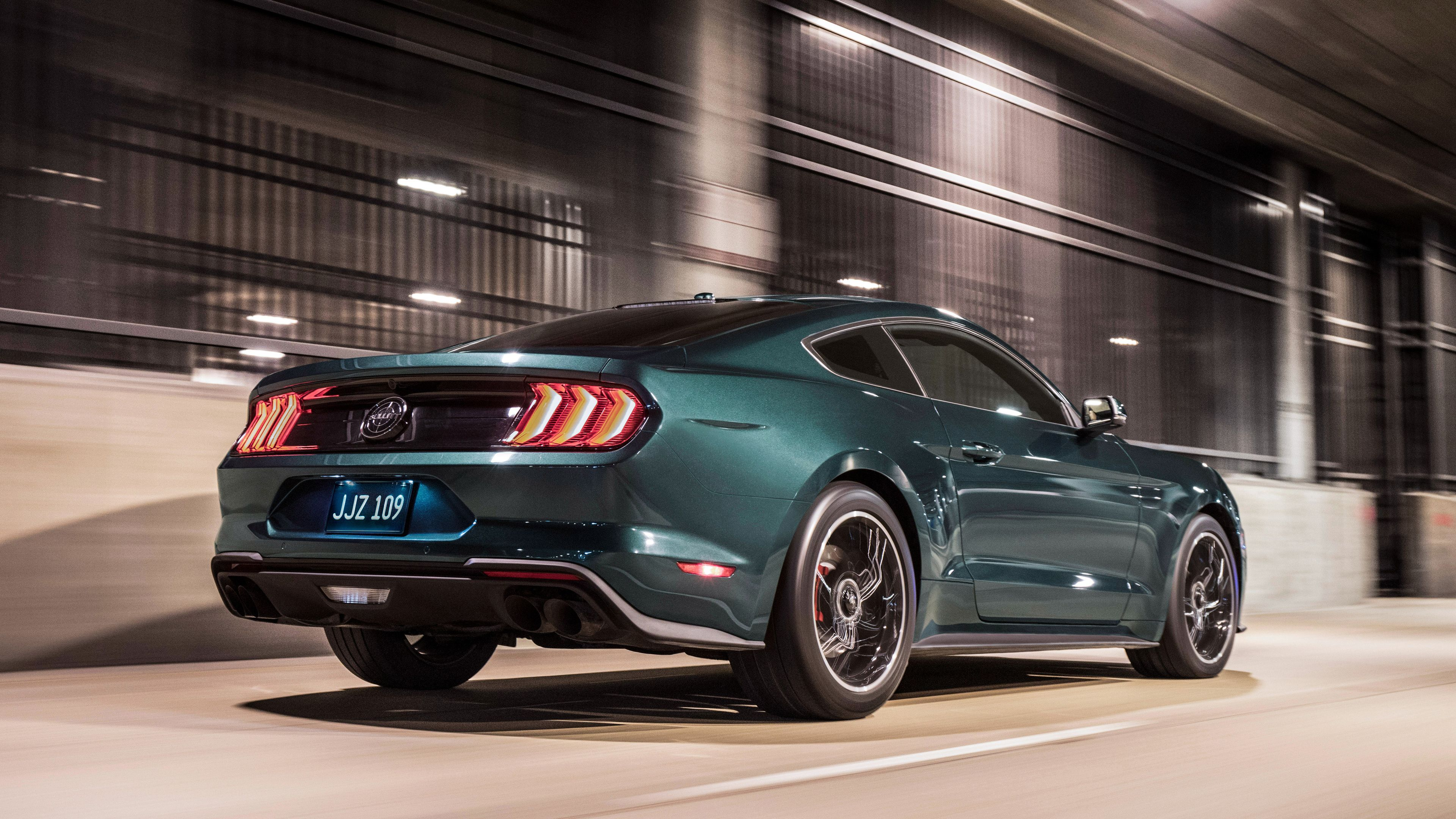 Wallpaper 4k 2019 Ford Mustang Bullitt Rear 4k 2019 Cars