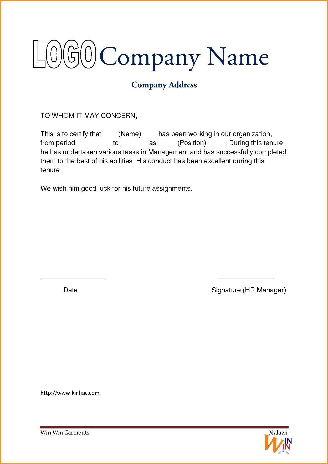Experience Certificate format Driverdoc New Experience