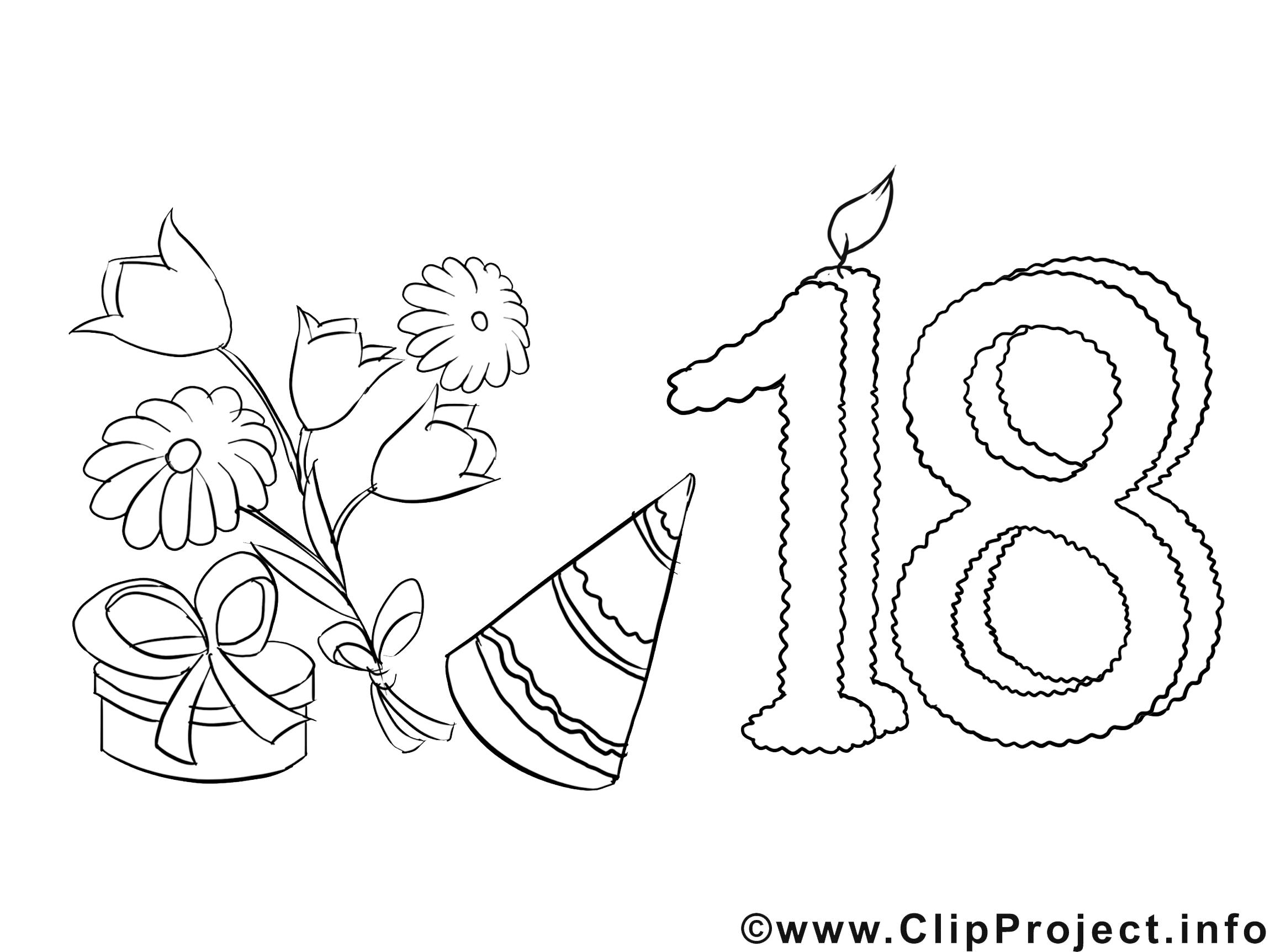 Ausmalbilder Geburtstag : Ausmalbilder Zum 18 Geburtstag 01 Ausmalbilder Pinterest