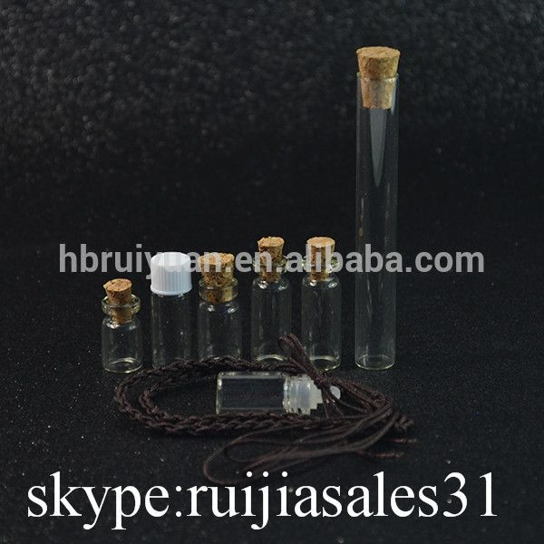a735f0594a01 Brand New Small Clear Glass Vial Jar Bottle 15ml With Cork Stopper ...