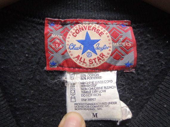 5687f4f5c1f22 Vintage 90's Converse All Star Chuck Taylor Sweatshirt Sport Street ...
