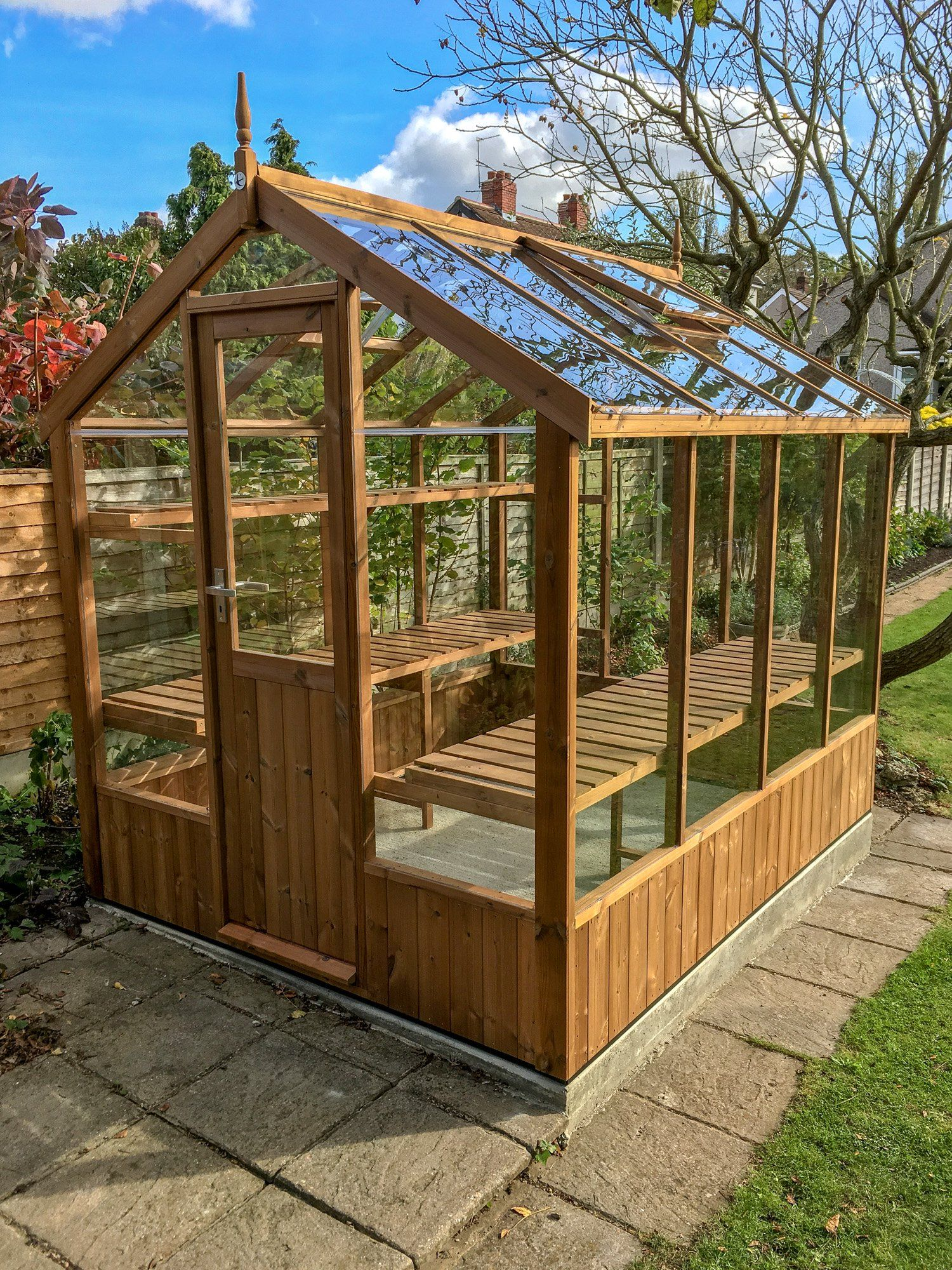 Swallow Kingfisher 6x8 Wooden Greenhouse Outdoor Greenhouse Timber Greenhouse Backyard Greenhouse Small backyard greenhouse ideas