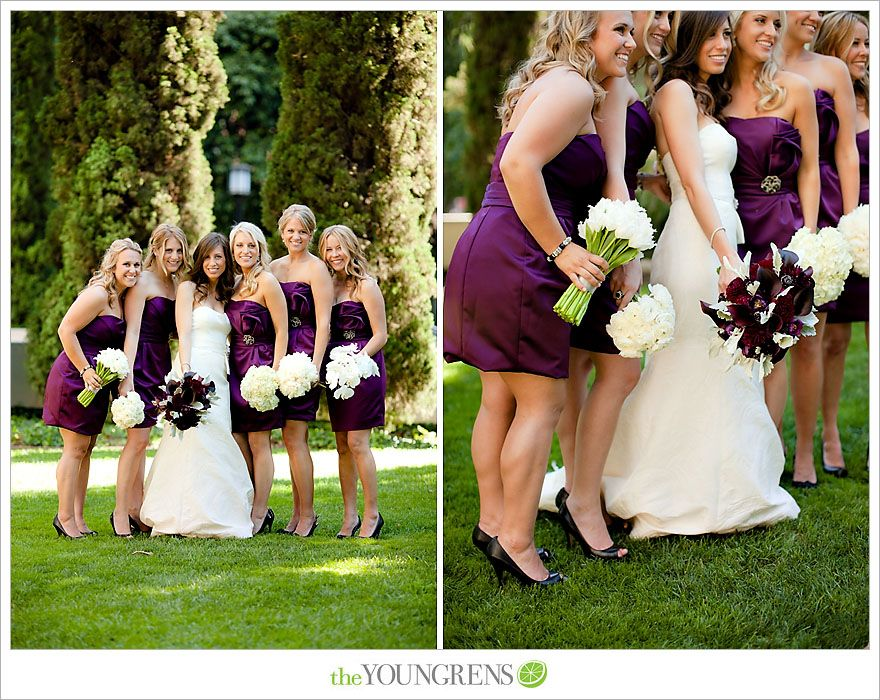 black shoes w purple dresses - love - flowers are great too!