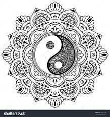 Image Result For Yin Yang Coloring Pages Mandala Design Art