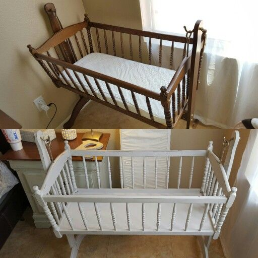 Chalk Paint Distressed Cradle Wooden Cradle Baby