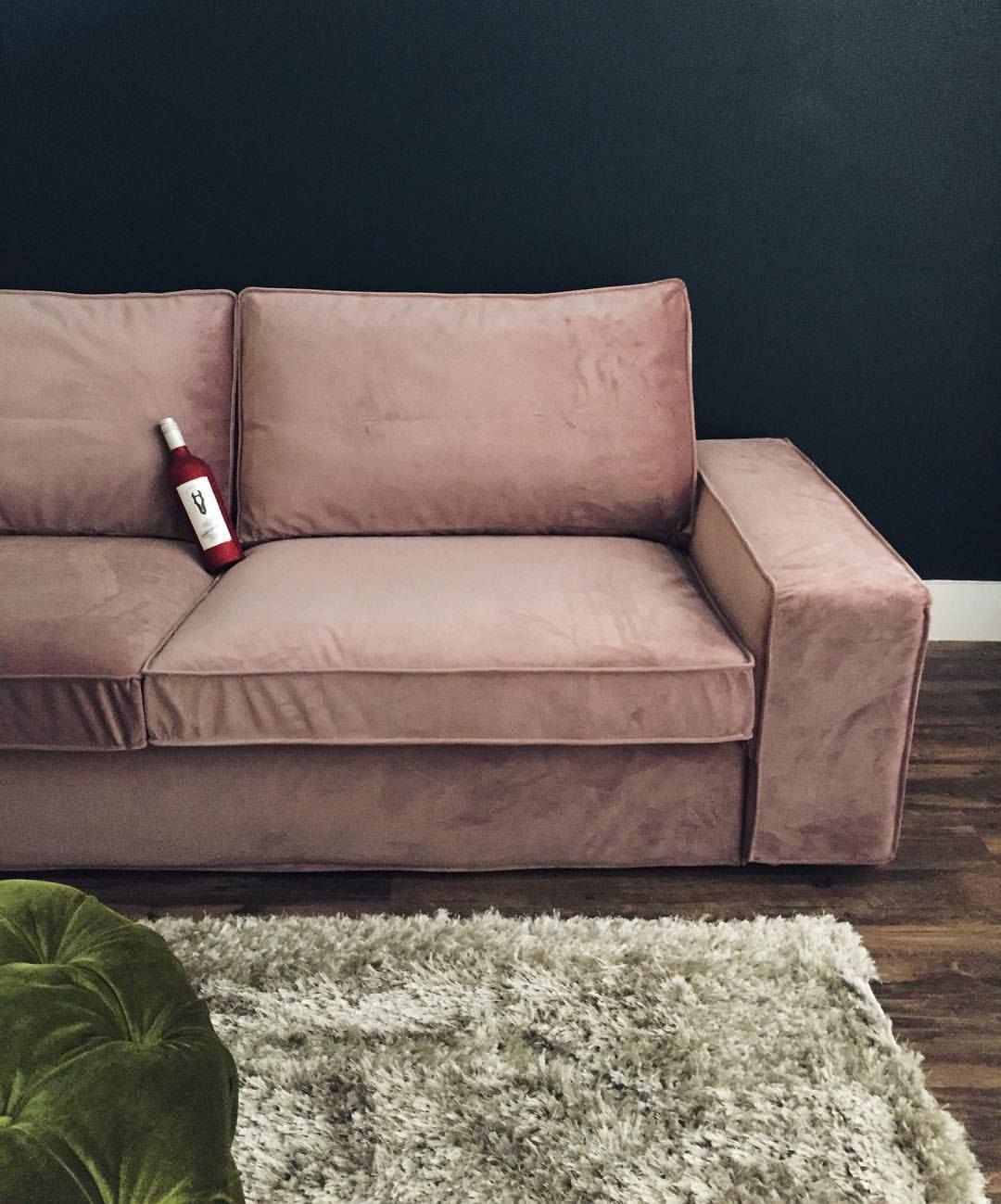 thechocolatedoll #ikea #kivik cover from #covercouch in #velvet grey on