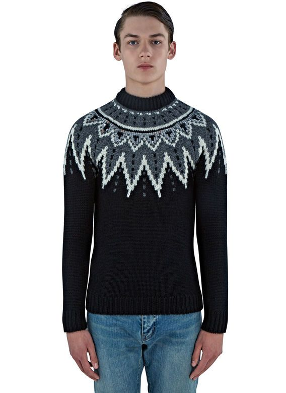 Men's Knitwear - Clothing | Order Now at LN-CC - Fair Isle Sequin ...