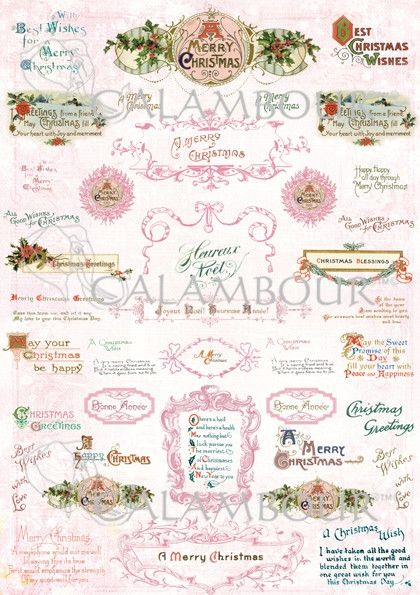 Calambour paper, glossy, light with great adhesion. Pattern: roses,  butcher's broom, tapes, flakes and writing.
