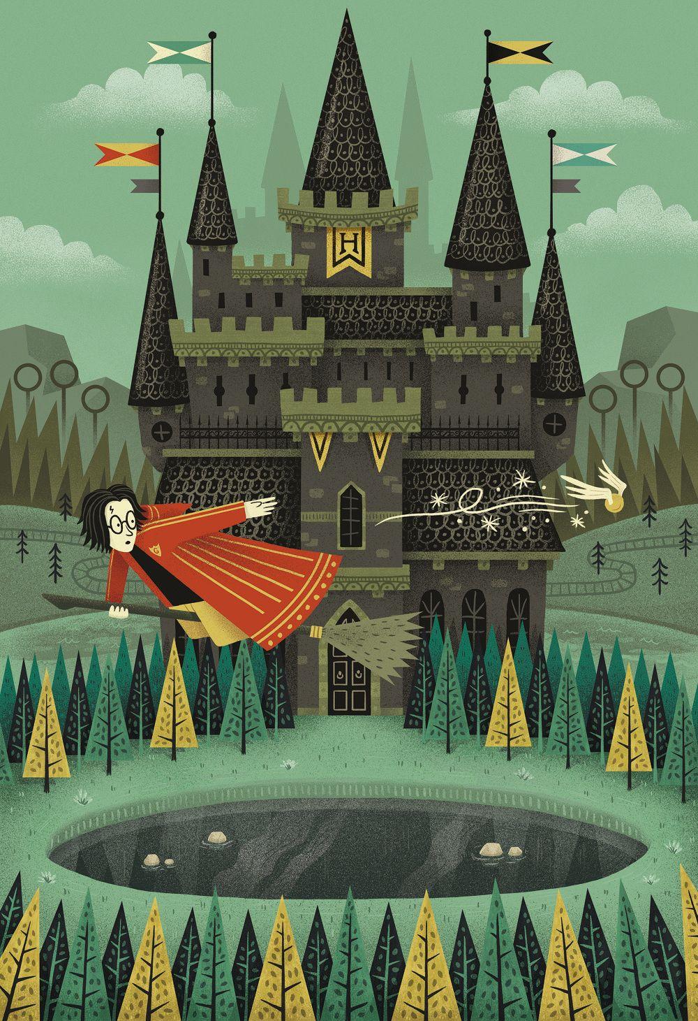 Harry Potter Book Art Hogwarts Hogwarts - Vict...