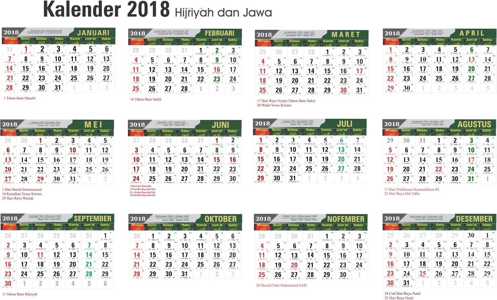 Idul Fitri Kalender 2021 Jawa Lengkap