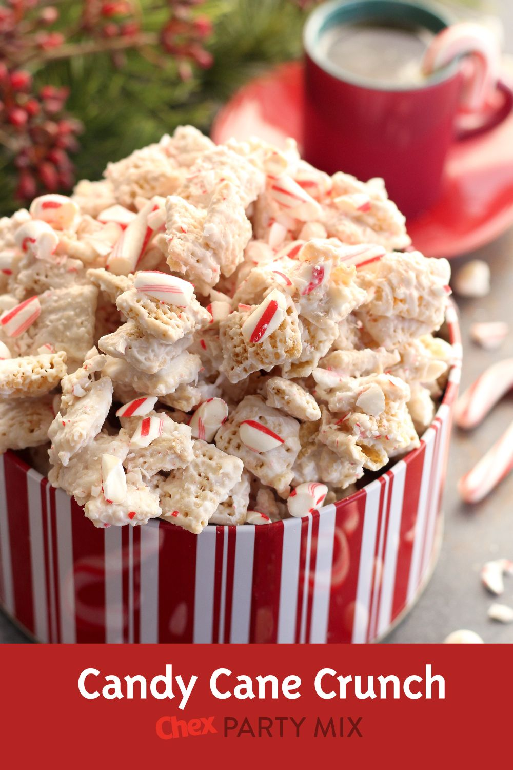 Gluten-Free Candy Cane Crunch Chex™ Party Mix
