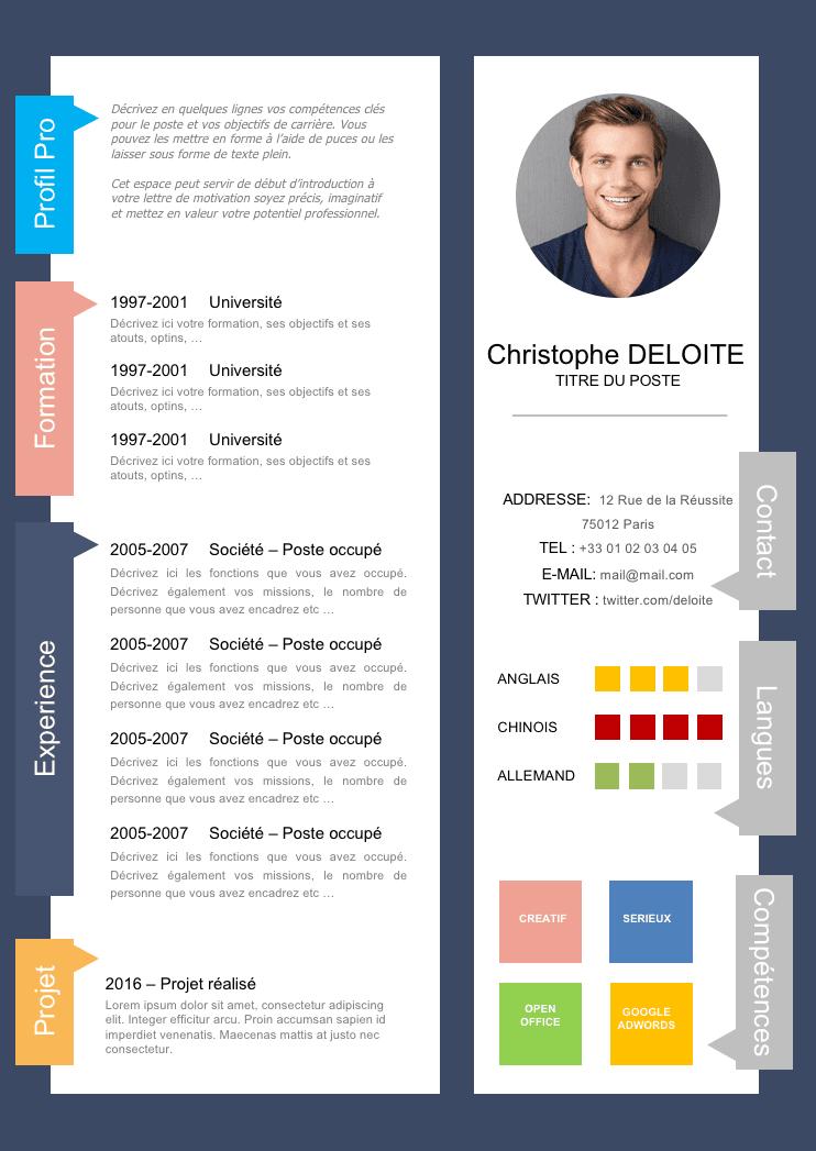 Exemple de CV Innovant gratuit à télécharger Exemple cv