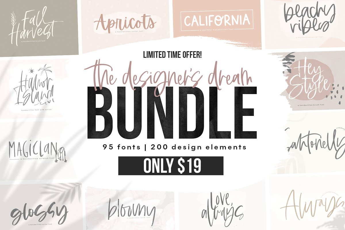 Download The Designer's Font BUNDLE ~ Script Fonts ~ Creative ...