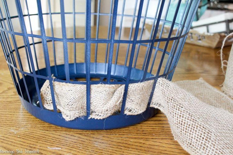Laundry Hamper To Burlap Basket Upcycle Monthly Diy Challenge