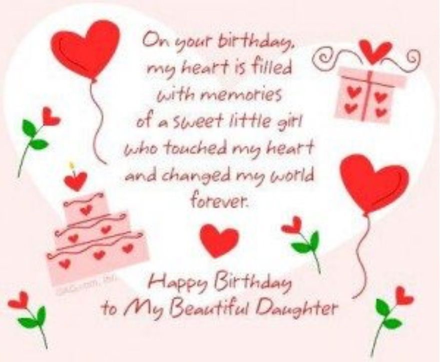 Pin By Colleen Summers On Birthday Memes And Quotes Birthday Greetings For Daughter Birthday Wishes For Daughter Happy Birthday Daughter