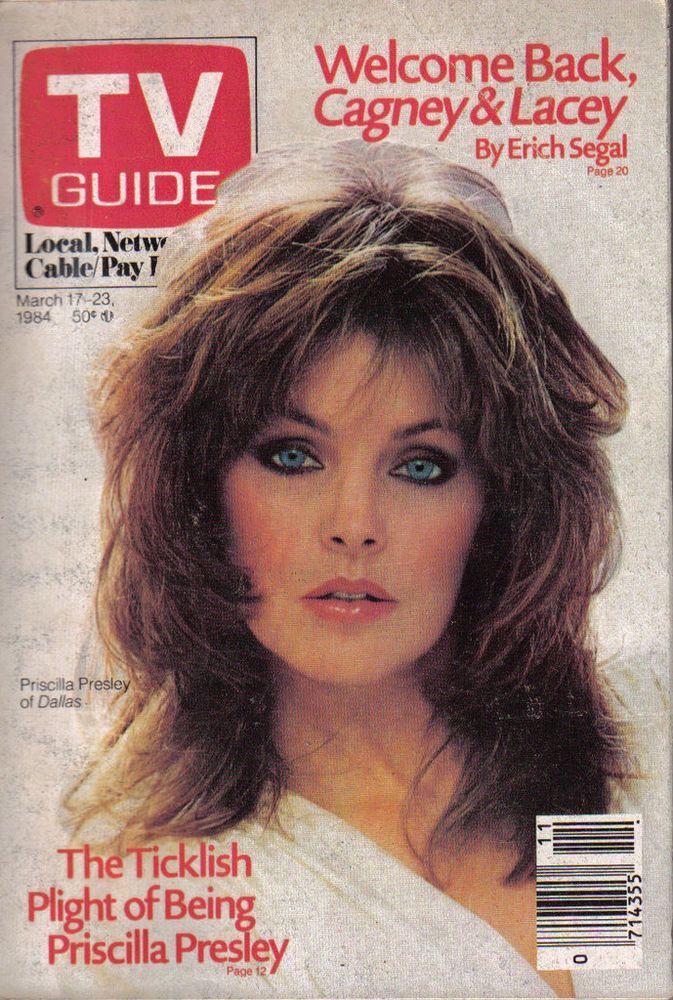 VINTAGE TV GUIDE MARCH 17 1984 PRISCILLA PRESLEY LINDA