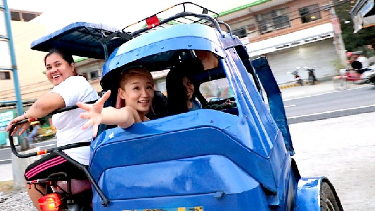3 Girls 1 Tricycle Shopping in the Philippines buy