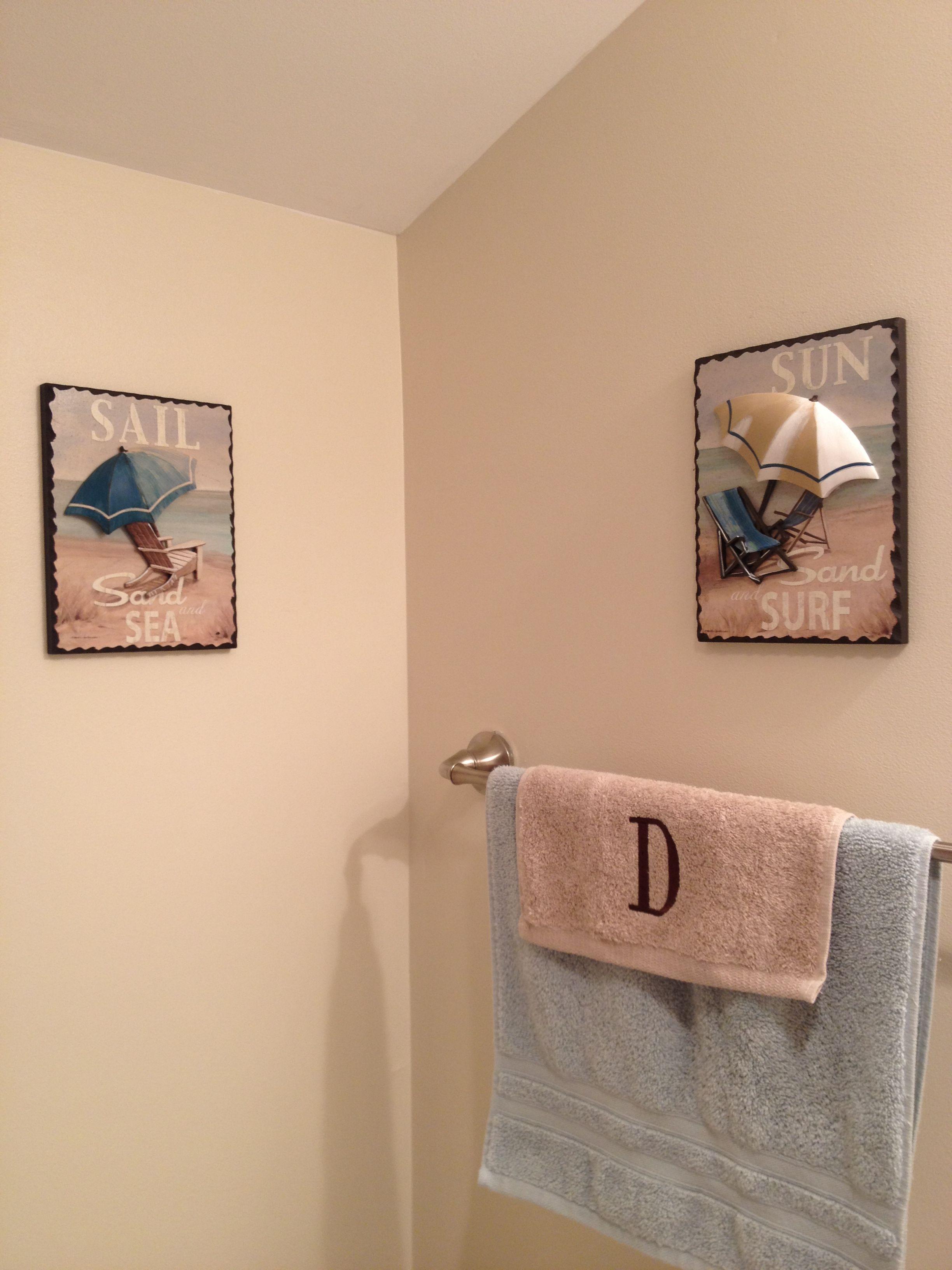 Beach themed bathroom decor Home Decor Pinterest