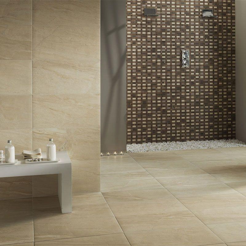 Sand Coloured Large Format Tiles Wall And Floor Tiles Flooring Tile Floor Living Room