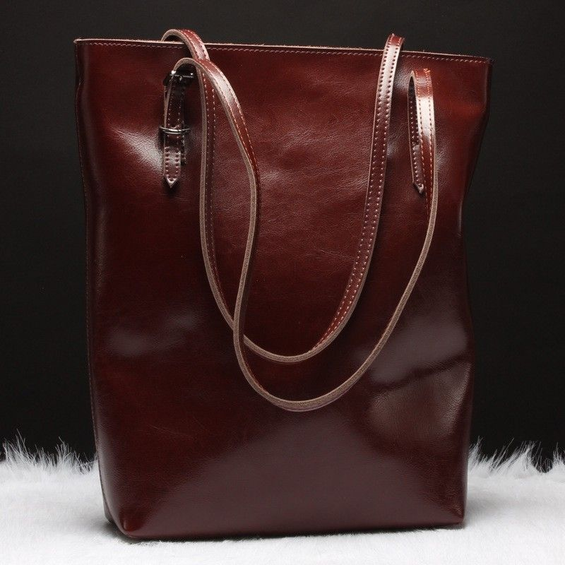 Women's Handbags Fashion Handbags for Women Simple Leather Shoulder Bags Messenger Tote Bags on bagail.com  Soft leather with fabric lining.   Shoulder handbags size:11''*5.9*13.8 (L*W*H)  Handle height: 19.7''(adjustable)   Classic & simple design,compact and lightweight is a timeless choice for day-to-night sophistication. Perfect for using in office, sch