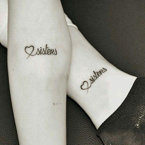 20 Ideas de tatuajes para hermanas que te enamoraran Tatuaje de