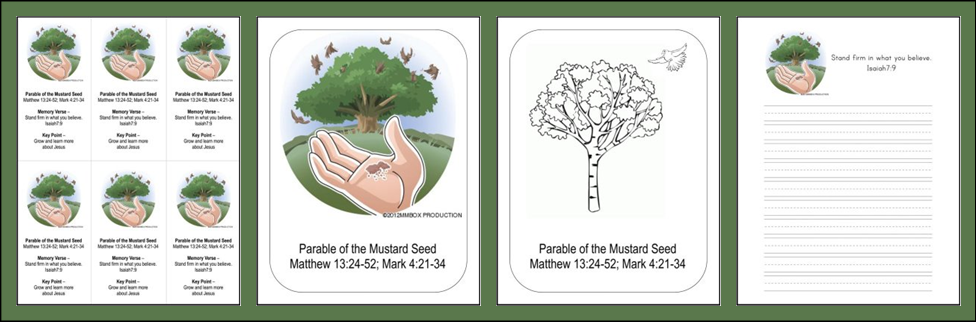 Bible Mustard Seed Parable Bookmark